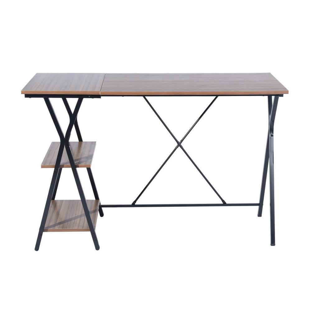 FurnitureR Modern L-Shaped 47.2in Long Desk Corner Computer Desk