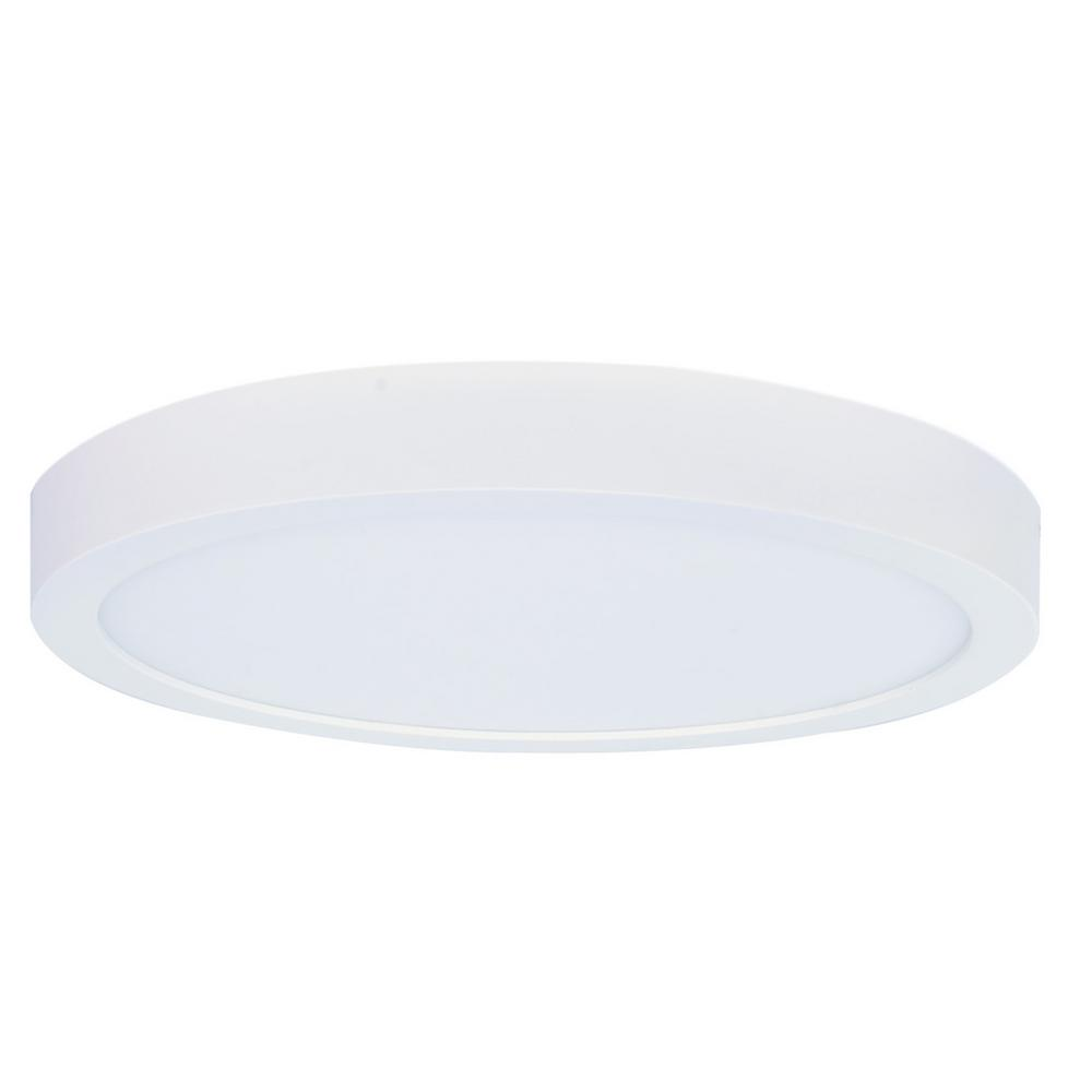 15-Watt White Integrated LED 7 in. Ceiling Flushmount