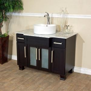 Bellaterra Home Trento I 40 inch Single Vanity in Dark Mahogany with Marble Vanity Top in... by Bellaterra Home