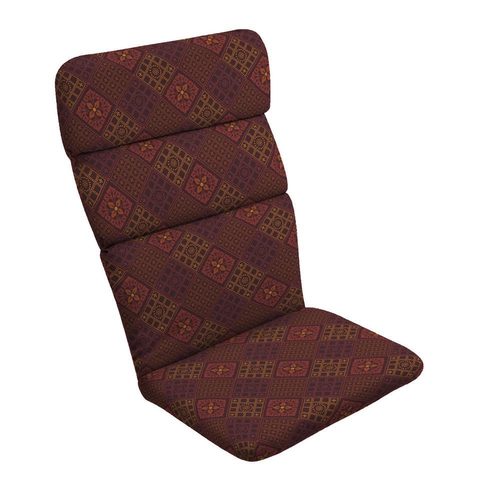 20 in. x 28.5 in. Azulejo Southwest Outdoor Adirondack Chair Cushion