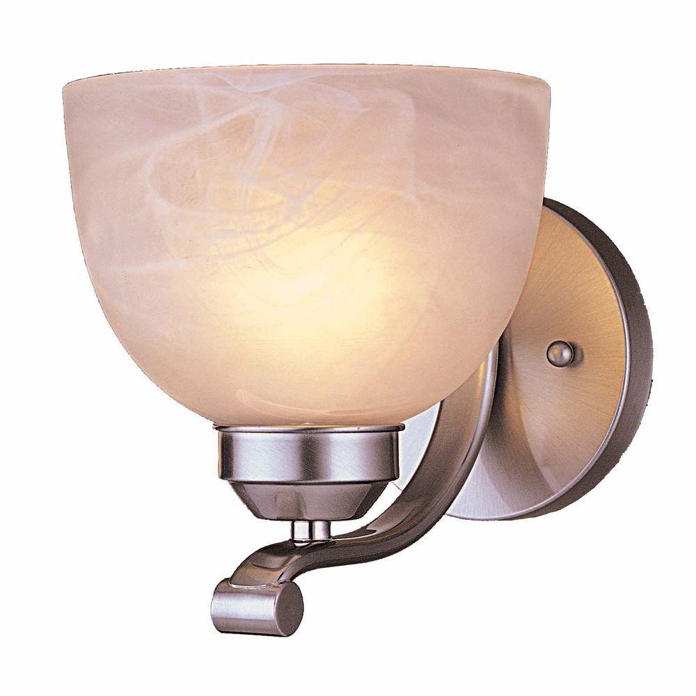 Paradox 1-Light Brushed Nickel Bath Light