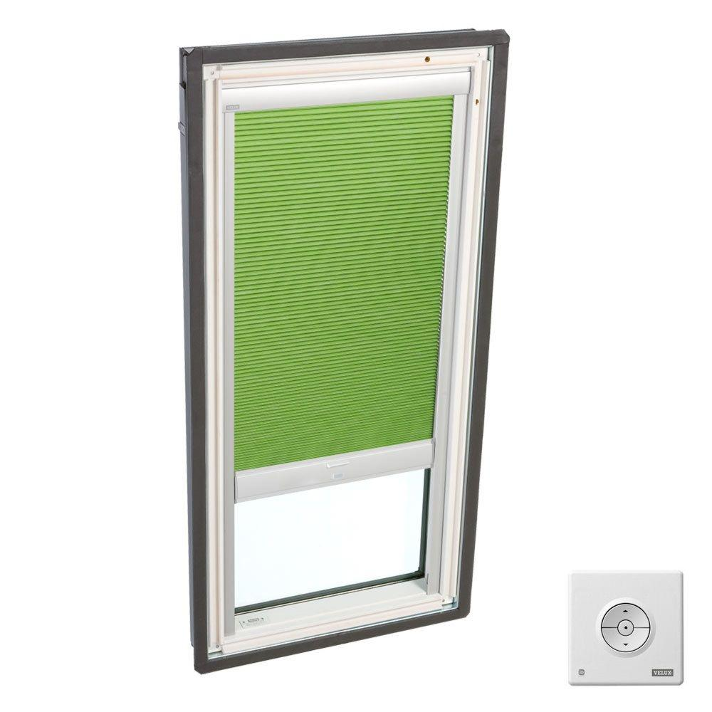 Solar Powered Room Darkening Green Skylight Blinds for FS D06 and