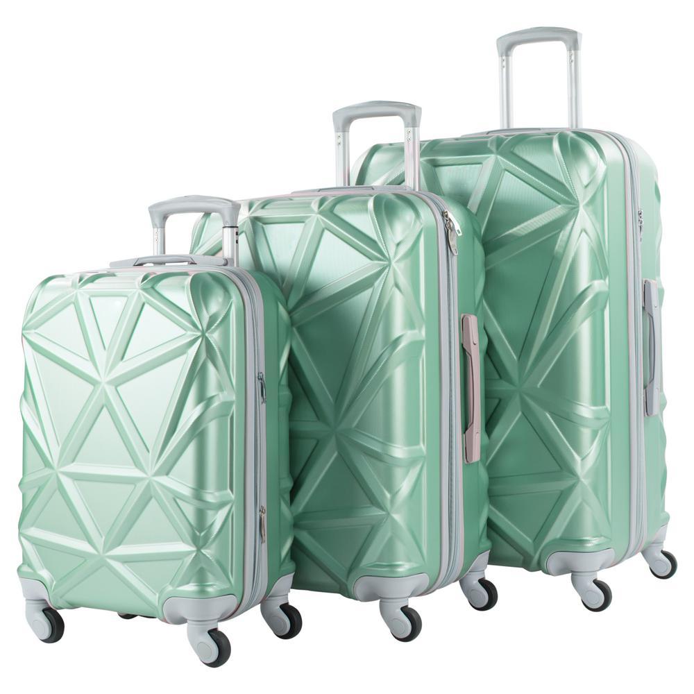 Gem Bubbles Elite Luggage Print 3 Piece Expandable Rolling Luggage Set