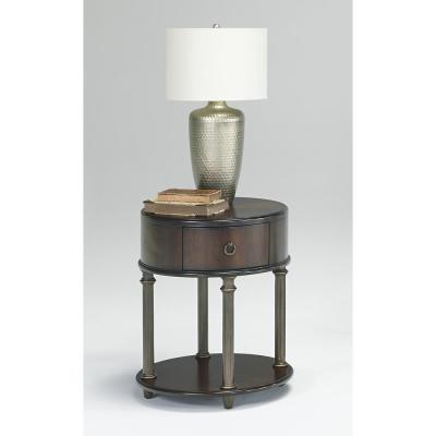 Regent Court Regent Cherry Oval End Table with Power Pack