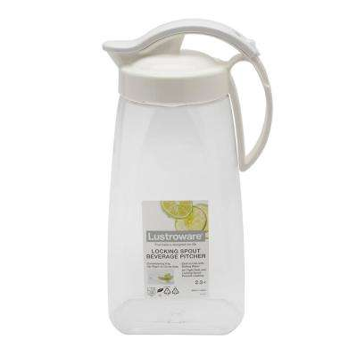 64 fl oz. Locking Spout Quick Pour Beverage Pitcher