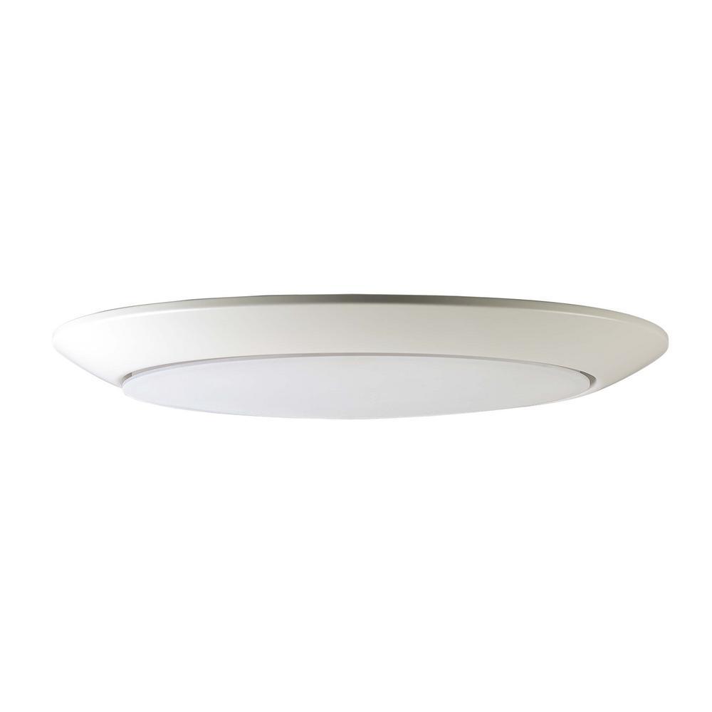Diverse 13 in. White Integrated LED Flushmount Light