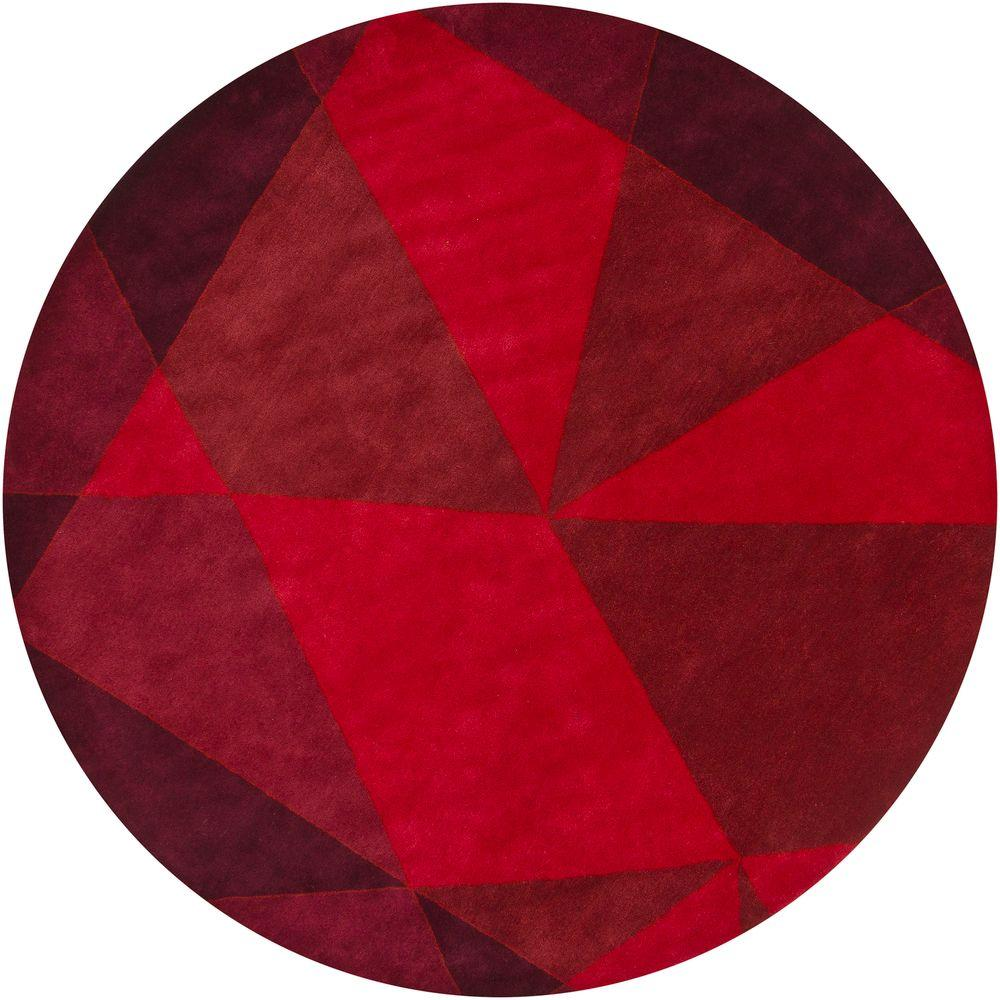 Daisa Red/Burgundy 7 ft. 9 in. x 7 ft. 9 in.