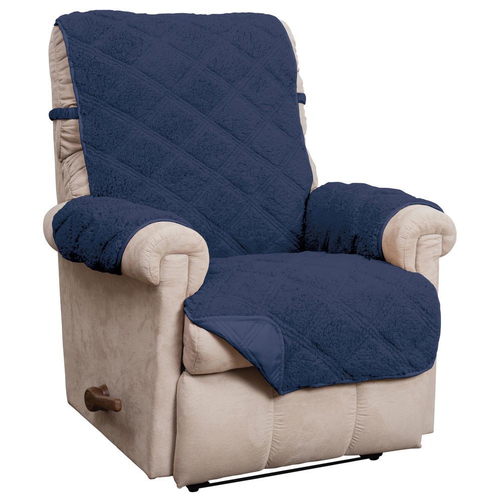 Hudson Navy Waterproof Recliner Furniture Cover