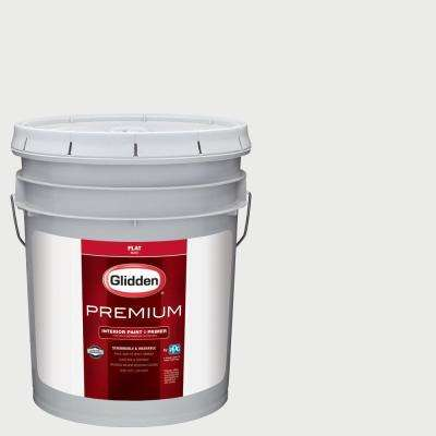 5 gal. #NBA-200B Brooklyn Nets White Flat Interior Paint with Primer