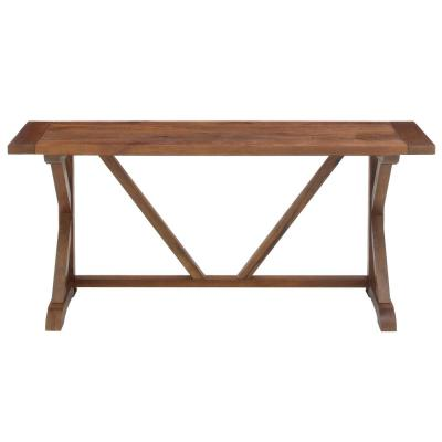 Cane 68 in. Brown Standard Rectangle Wood Console Table
