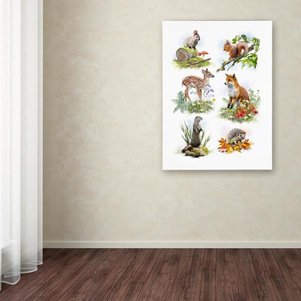 Trademark Fine Art 19 in. x 14 in. ''Wildlife Collage'' by
