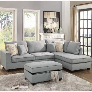 Strange Venetian Worldwide Siena 3 Piece Sectional Sofa In Light Pabps2019 Chair Design Images Pabps2019Com