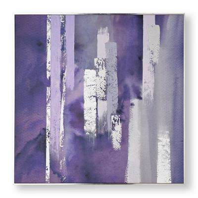 """35 in. x 35 in. """"Purple Harmony"""" Printed Canvas Wall Art"""