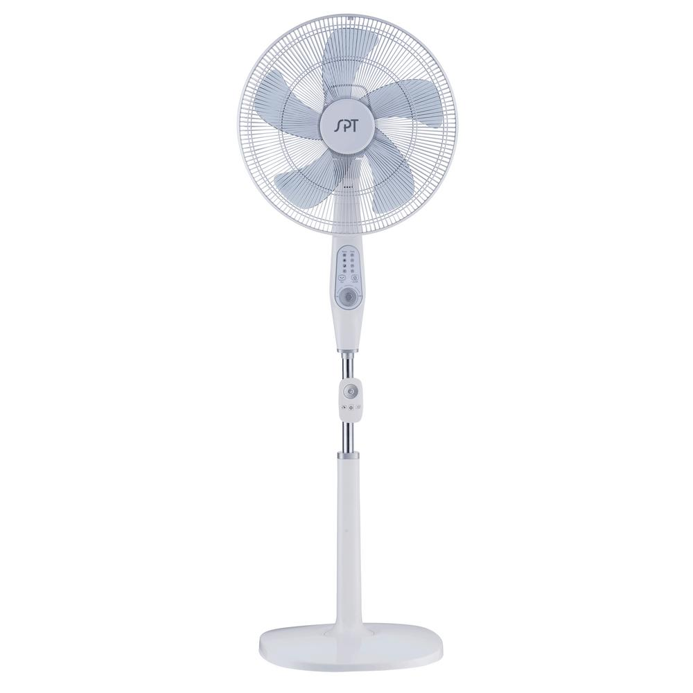 SPT 16 in. 12 Speed DC-Motor Energy Saving Stand Fan with...