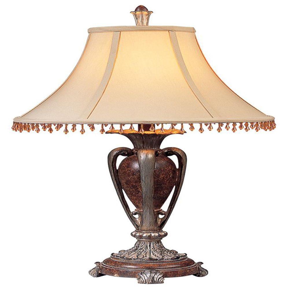 Ok Lighting 29 In Antique Copper Table Lamp