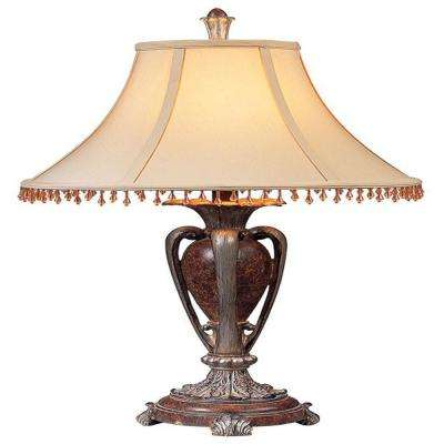 29 in. Antique Copper Table Lamp