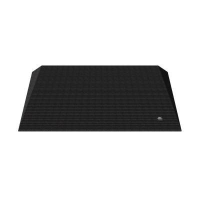 TRANSITIONS Angled Entry Door Threshold Mat, Black, Rubber, 25 in. L x 40 in. W x 2.5 in. H