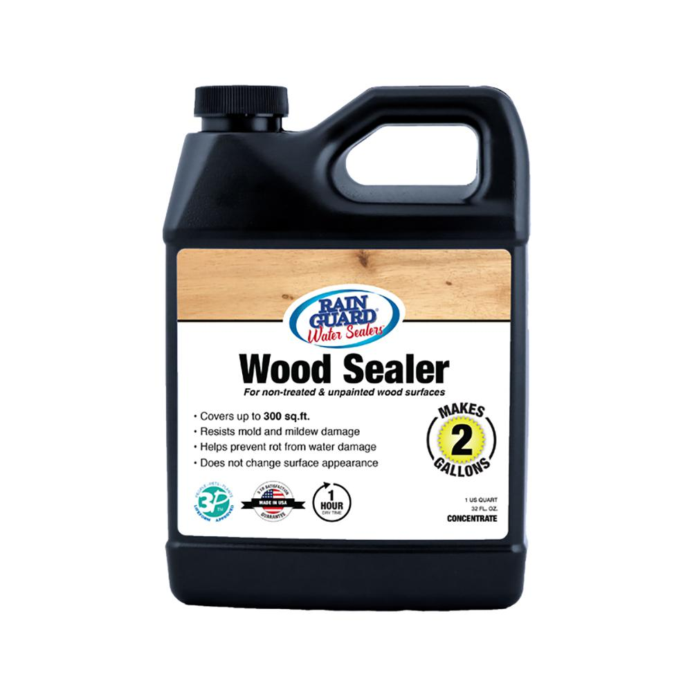 Rain Guard 32 Oz Wood Sealer Concentrate Premium Waterproofer Makes 2 Gal
