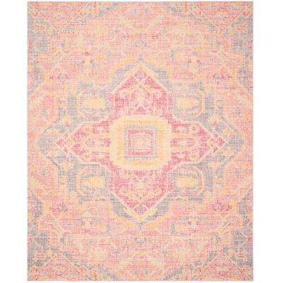 Cotton 9 X 13 Pink Area Rugs Rugs The Home Depot
