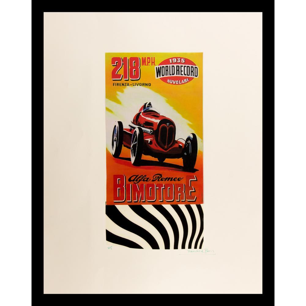 """24 in. x 18 in. """"Alfa Romeo"""" by Fairchild Paris Framed Print Ad Wall Art"""