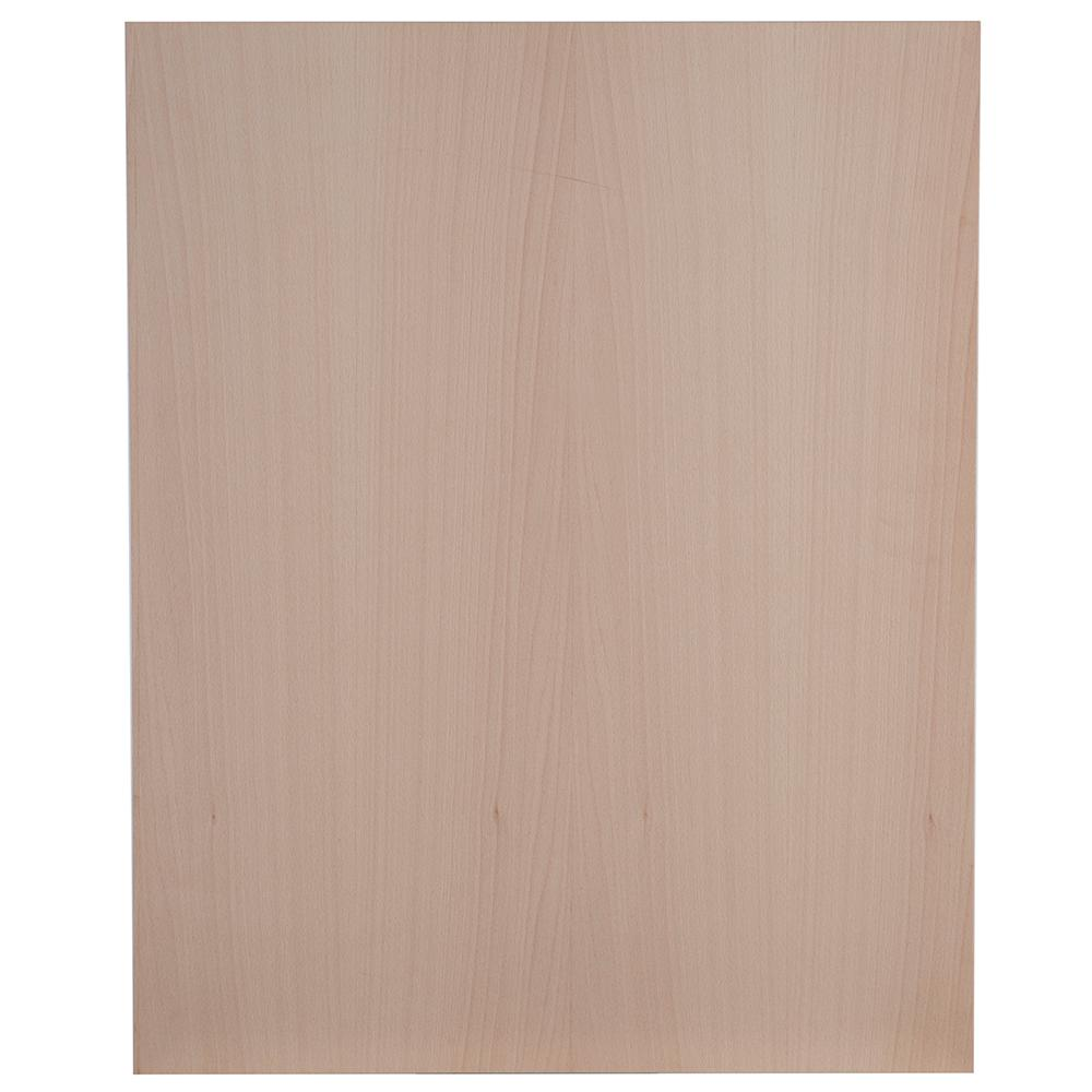23.75x34.5x0.5 in. Base End Panel in Unfinished German Beech