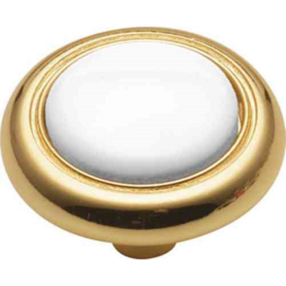 Hickory Tranquility 1-1/4 in. White Cabinet Knob