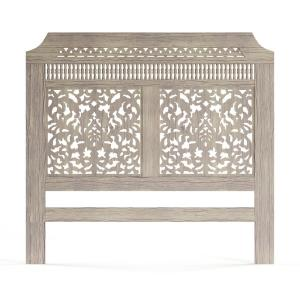 Home Decorators Collection-Maharaja Sandblast White Queen Headboard