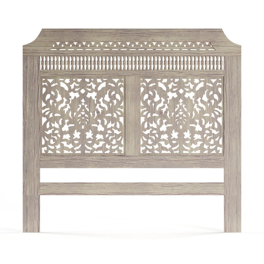 Home Decorators Collection Maharaja Sandblast White Queen