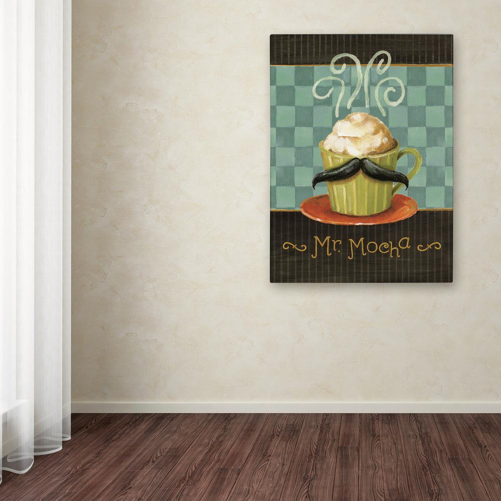 Trademark Fine Art 32 In X 24 In Quot Cafe Moustache V Quot By