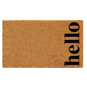 Home & More Vertical Hello Natural/Black 24 inch x 36 inch Door Mat by Home & More