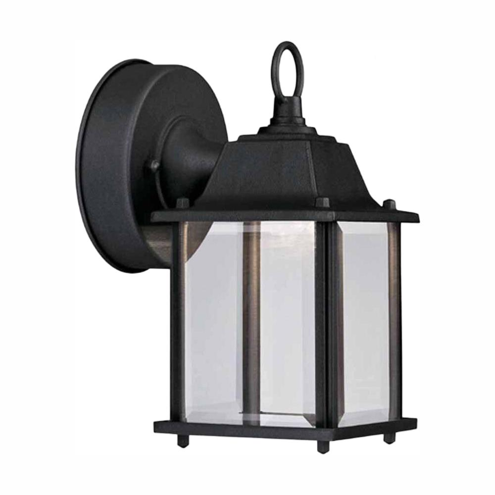 Hampton Bay Black Outdoor Led Wall Lantern Sconce Hb7002 05 The Home Depot