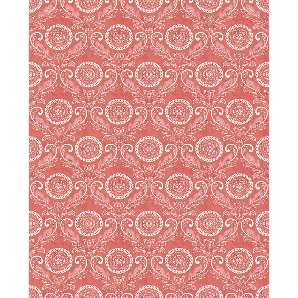 York Wallcoverings Red Damask Wallpaper Lw5895 The Home