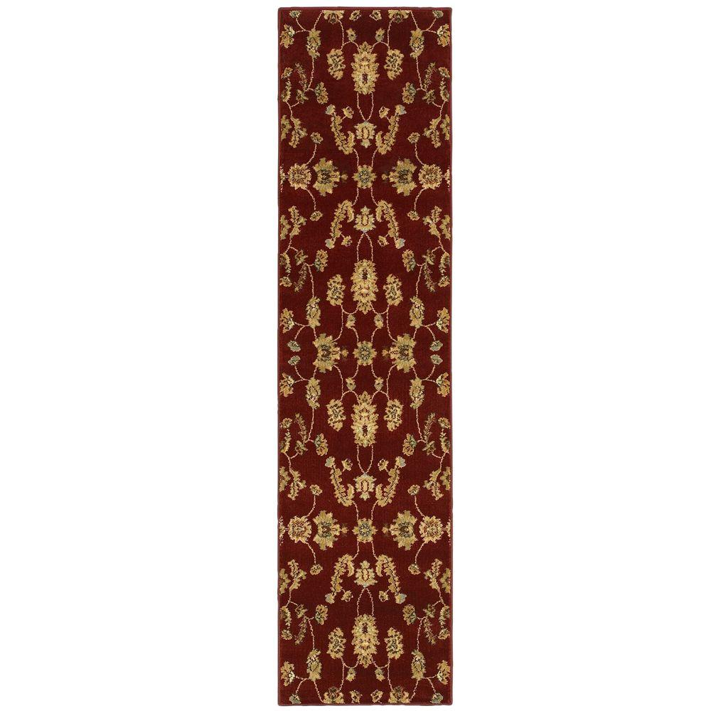 LR Resources Transitional Red Rug Runner 1 ft. 10 in. x 7 ft. 1 in. Plush Indoor Area Rug
