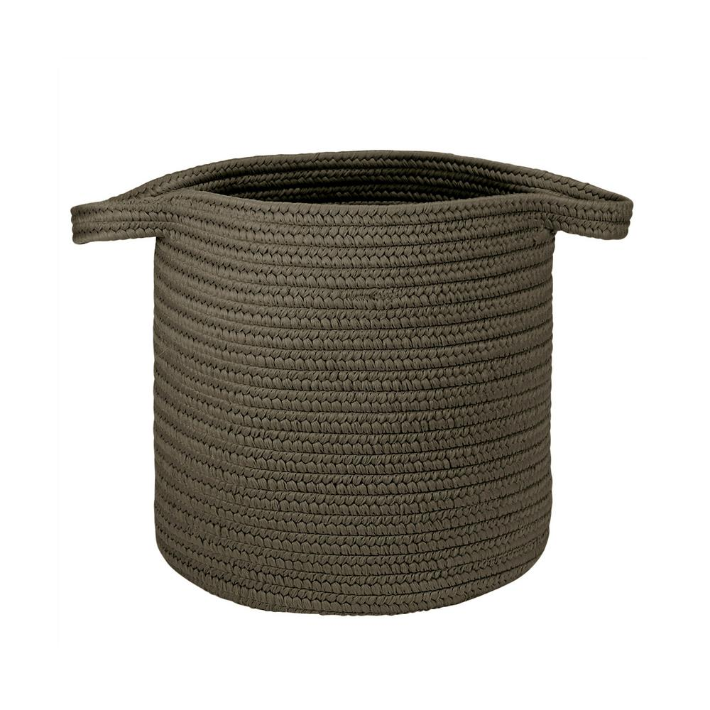 16 in. x 16 in. x 20 in. Charcoal Addison Braided Laundry Basket