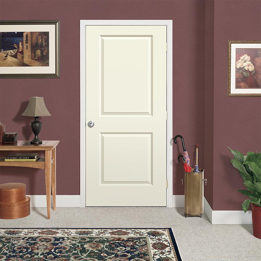 36 in. x 80 in. Cambridge Vanilla Painted Smooth Molded Composite MDF Interior Door Slab