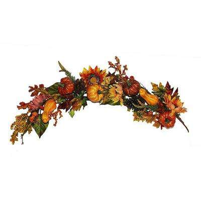 48 in. Sunflower Pumpkin Garland
