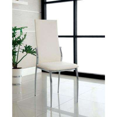 Kalawao White Contemporary Style Side Chair (2-Pack)