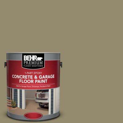 1 gal. #PFC-34 Woven Willow 1-Part Epoxy Satin Interior/Exterior Concrete and Garage Floor Paint
