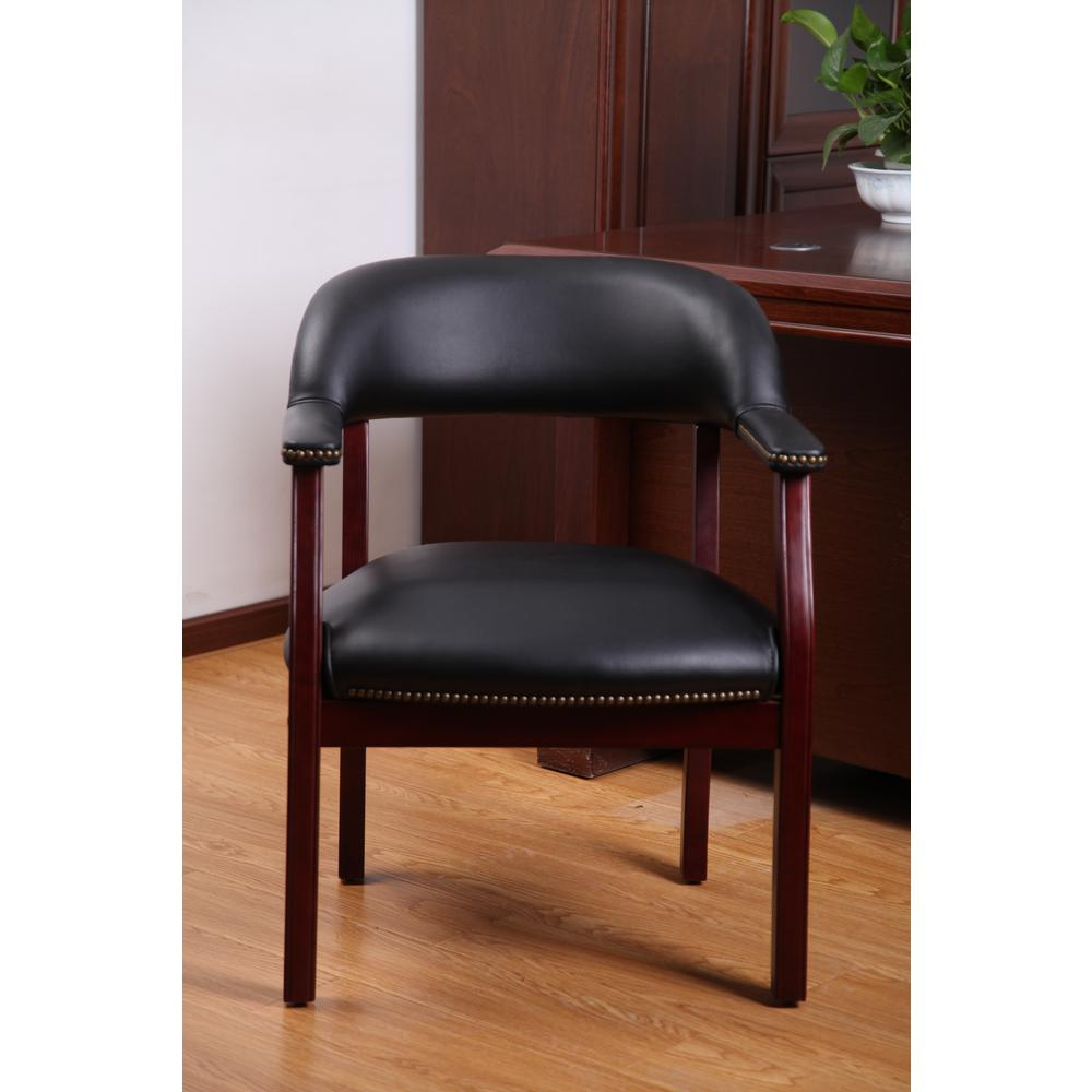 Boss Traditional Black Captain S Chair B9540 Bk The Home