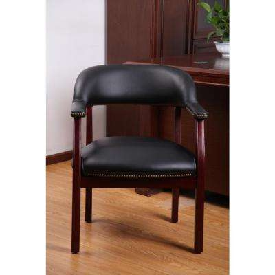 Traditional Black Captain's Chair