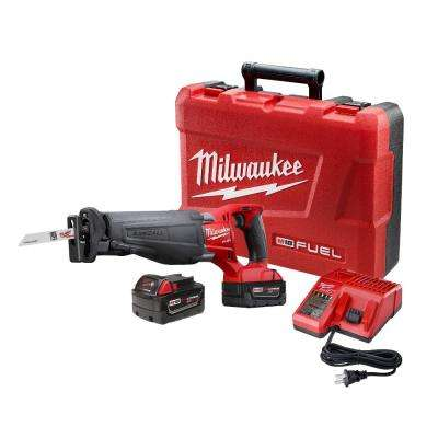 M18 FUEL 18-Volt Lithium-Ion Brushless Cordless Sawzall Reciprocating Saw Kit