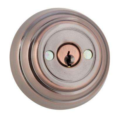 Double Cylinder Bronze Gate Deadbolt