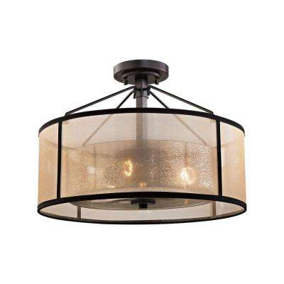 Diffusion 3-Light Oil Rubbed Bronze LED Semi Flush Mount