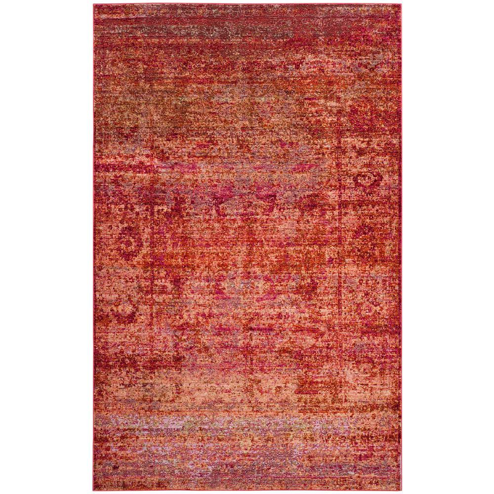 Safavieh Mystique Rust/Multi (Red/Multi) 6 ft. x 9 ft. Ar...