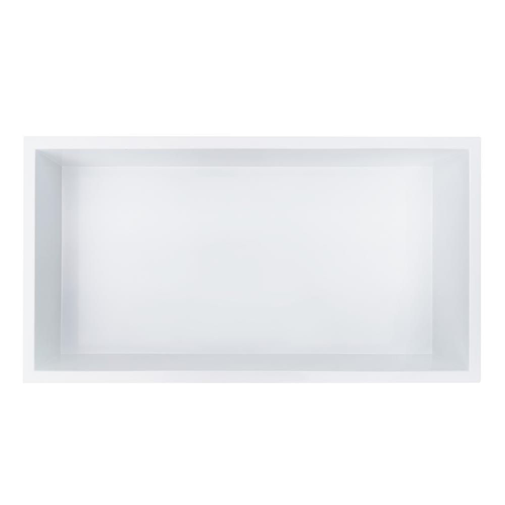 Showroom Series 12 in. x 24 in. Shower Niche in White