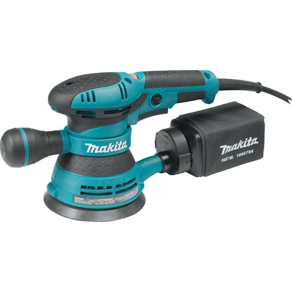 Makita 3 Amp 5 in. Corded Variable Speed Random Orbital Sander with Dust Bag