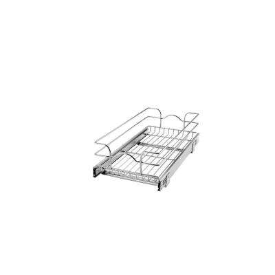 7 in. H x 11.75 in. W x 22 in. D Base Cabinet Pull-Out Chrome Wire Basket