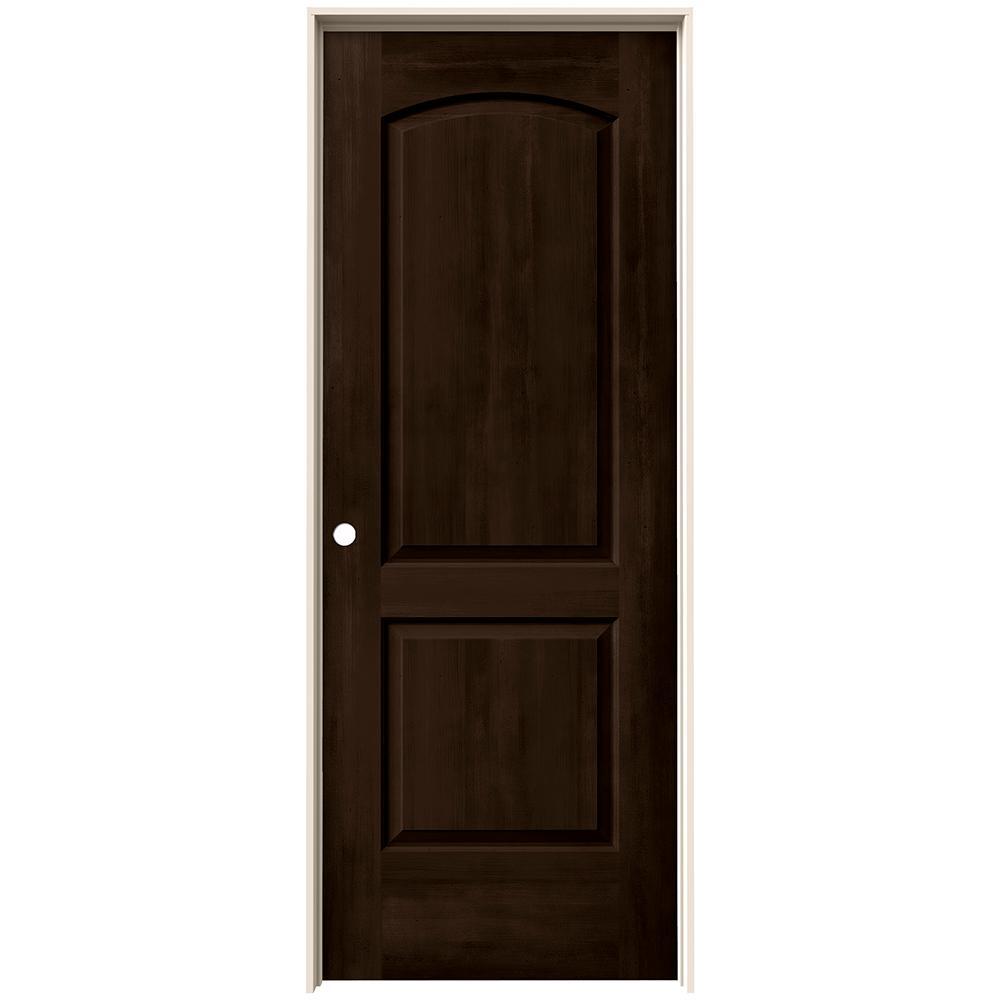 24 in. x 80 in. Continental Espresso Stain Right-Hand Molded Composite MDF Single Prehung Interior Door