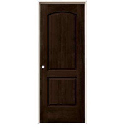 24 in. x 80 in. Continental Espresso Stain Right-Hand Solid Core Molded Composite MDF Single Prehung Interior Door