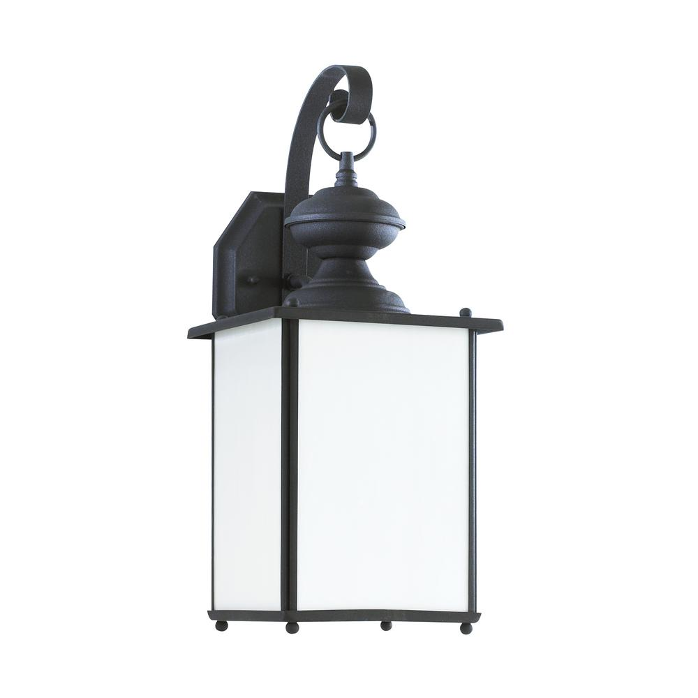 Jamestowne 1-Light Black Outdoor Wall Mount Lantern